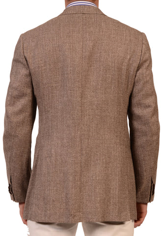 KITON Napoli Light Brown Cashmere-Linen-Silk Jacket SportCoat US 38 NEW EU 49 R7 - SARTORIALE - 2