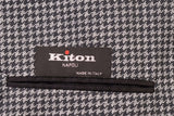 KITON Napoli CIPA 1960 Gray Houndstooth Cotton Unlined Jacket Coat 50 NEW US 40