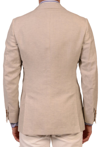 KITON Napoli Off White Cashmere-Linen Blazer Jacket US 38 NEW EU 48 R8 Slim Fit - SARTORIALE - 2
