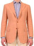 KITON Napoli Peach Windowpane Summer Jacket NEW R8 Slim Fit - SARTORIALE - 1