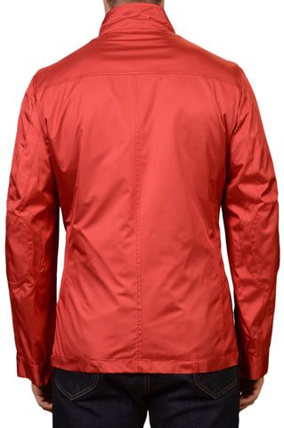 KITON Napoli Red Silk Jacket with Removable Cashmere Lining EU 50 NEW US 40