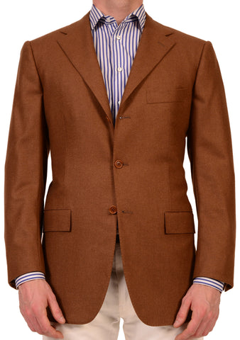 KITON Napoli Solid Brown Cashmere Jacket Blazer US 38 40 NEW EU 50 - SARTORIALE - 1