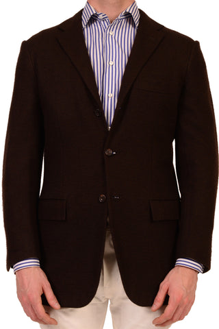 KITON Napoli Solid Brown Cashmere Unconstructed Jacket US 38 40 NEW 50 R9 Slim - SARTORIALE - 1