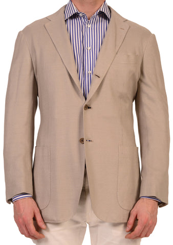 KITON Napoli  Gray Summer Silk Stretch Unconstructed Jacket 40 NEW 50 R9 Slim - SARTORIALE - 1