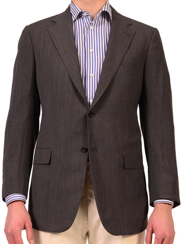 "KITON Napoli Solid Gray Wool Jacket US 42 44 NEW EU 54 R7 ""Stanley Korshack"" - SARTORIALE - 1"