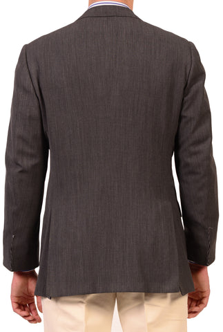 "KITON Napoli Solid Gray Wool Jacket US 42 44 NEW EU 54 R7 ""Stanley Korshack"" - SARTORIALE - 2"