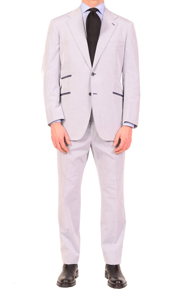 KITON Napoli Solid Lavender Cotton Summer Suit EU 51 NEW US 38 40 R9 Slim Fit - SARTORIALE - 1