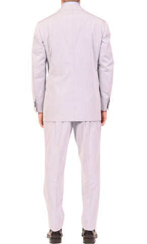 KITON Napoli Solid Lavender Cotton Summer Suit EU 51 NEW US 38 40 R9 Slim Fit - SARTORIALE - 2