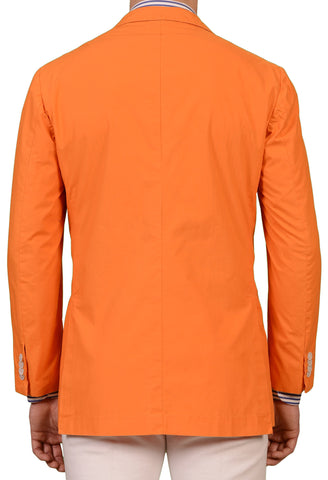 KITON Orange Cotton Spring Soft Jacket Blazer EU 52 NEW US 40 42