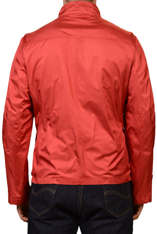 KITON Red Silk Duffle Spring Jacket w. Removable Cashmere Lining EU 50 NEW US 40