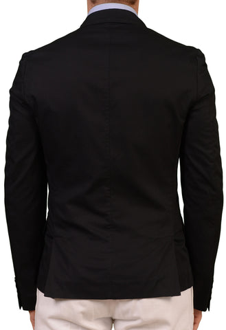 KRIS VAN ASSCHE Black Cotton 1 Button Blazer Jacket EU 48 NEW US 36 Slim Short