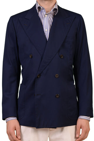 LH RUBINACCI London House Bespoke Jacket DB Navy Blue Blazer 50 NEW 38 40 - SARTORIALE - 1