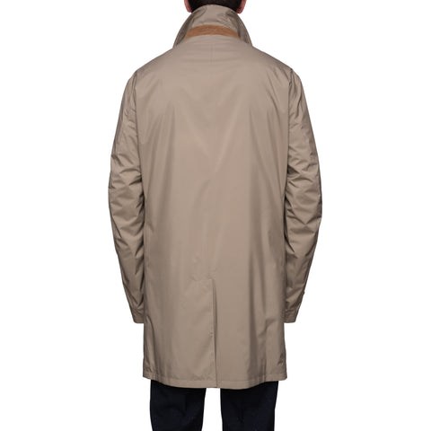 LORO PIANA Beige Storm System Travel Rain Coat EU 60 NEW US 4XL Foldaway