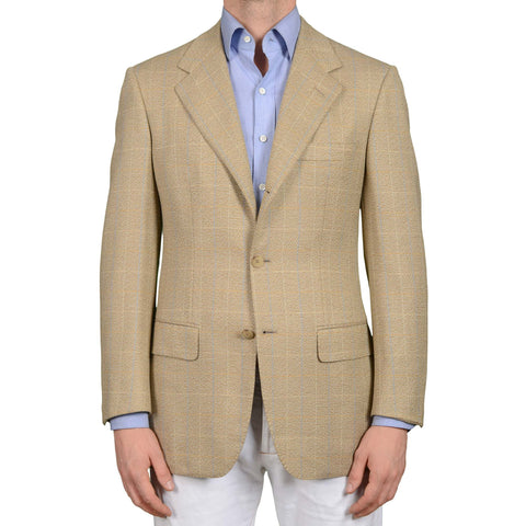 LOWNDES by D'Avenza Beige Cashmere-Wool Super 120's Jacket Sport Coat 50 NEW 40