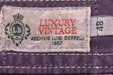 LUIGI BORRELLI Luxury Vintage Purple Cotton Jeans Pants EU 48 NEW US 32