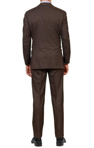 LUIGI BORRELLI Napoli Diplomat Brown Wool Suit EU 52 NEW US 40 42