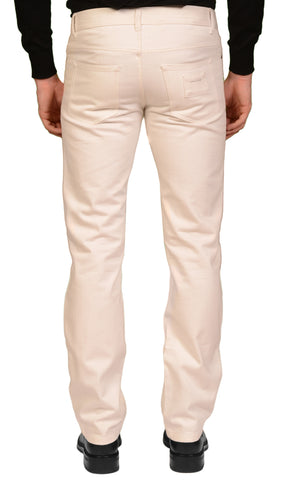 MARC JACOBS Made In Italy Off-White Cotton Slim Fit Jeans Pants EU 48 US 32