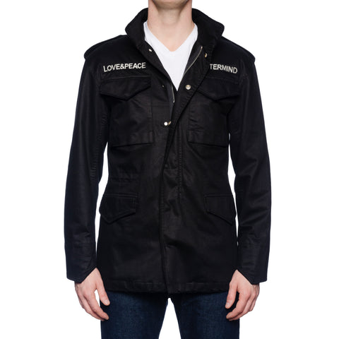 MASTERMIND WORLD M-65 Black Skull Embroidery Field Jacket NEW US S