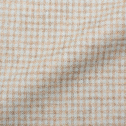 Mariano RUBINACCI Hand Made Beige Teal Plaid Cashmere Blazer Jacket 50 NEW US 40