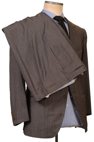 Mariano RUBINACCI Napoli Gray Striped Wool Business Suit EU 54 US 42 44