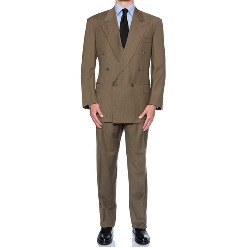 "NAPOLEON by D'Avenza ""Oreni"" Handmade Super 120's DB Suit EU 56 NEW US 46"