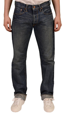 NSF Made In USA Blue Japanese Denim Cotton Straight Fit Selvedge Jeans W35 L34 - SARTORIALE - 1