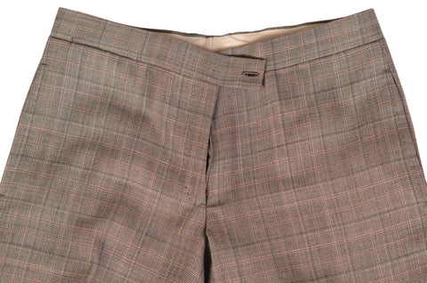 ORAZIO LUCIANO Gray Prince Of Wales Wool Flat Front Dress Pants EU 46 NEW US 30 - SARTORIALE