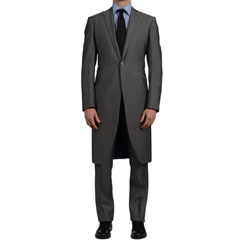 OZWALD BOATENG Handmade Gray Wool-Mohair Morning Suit NEW