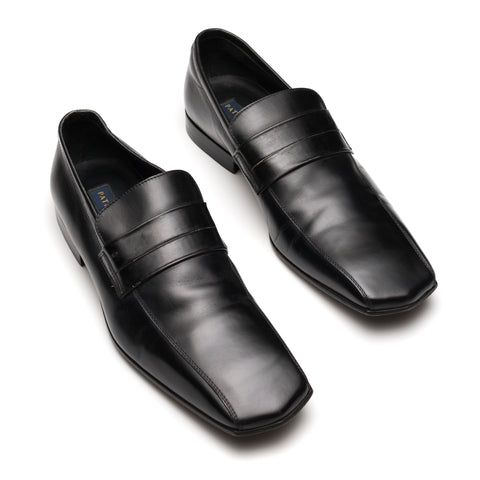 PATRICK COX Made in Italy Black Leather Loafer Shoes UK 8.5 US 9