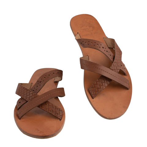 PAUL & JOE Brown Leather Slippers Flip-Flops EU 40 US 7