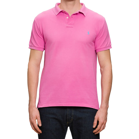 POLO By RALPH LAUREN Pink Pique Cotton Short Sleeve Polo Shirt US L Custom Fit