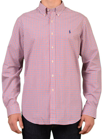 POLO By RALPH LAUREN Gingham Plaid Button Down Cotton Shirt 44 NEW 17.5 XL Slim - SARTORIALE - 1