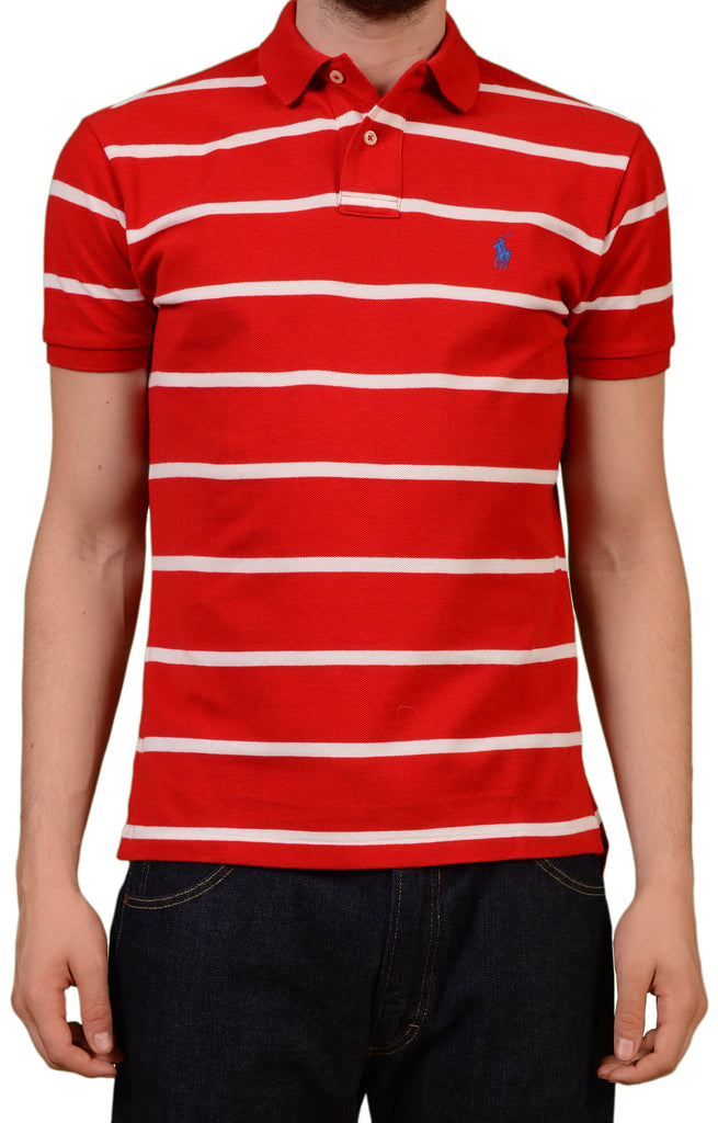 acdfd104f More from this designer. POLO By RALPH LAUREN Striped Green Cotton Polo  Shirt NEW Custom ...