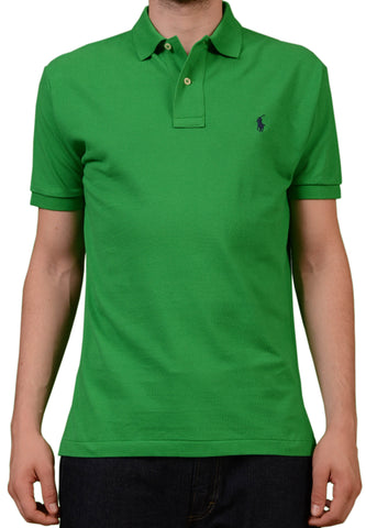 POLO By RALPH LAUREN Solid Green Cotton Polo Shirt EU 48 NEW US S - SARTORIALE - 1