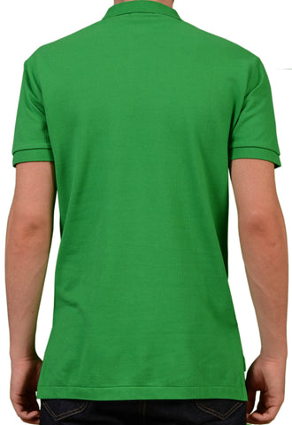 POLO By RALPH LAUREN Solid Green Cotton Polo Shirt EU 48 NEW US S - SARTORIALE - 2
