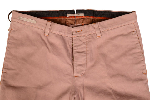 PT01 PANTALONI TORINO Salmon Cotton Denim Stretch Casual Pants NEW
