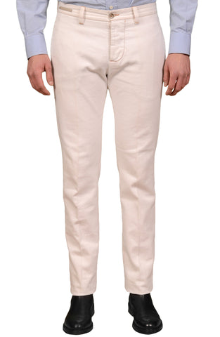 PT01 PANTALONI TORINO Off White Cotton Denim Jeans NEW