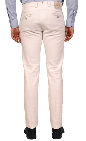 PT01 PANTALONI TORINO White Cotton Denim Twill Casual Pants NEW