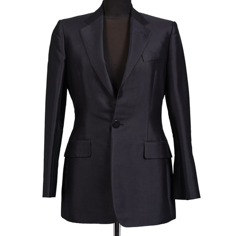 RALPH LAUREN Purple Label BERGDORF Black Wool-Silk Women Blazer NEW US 4