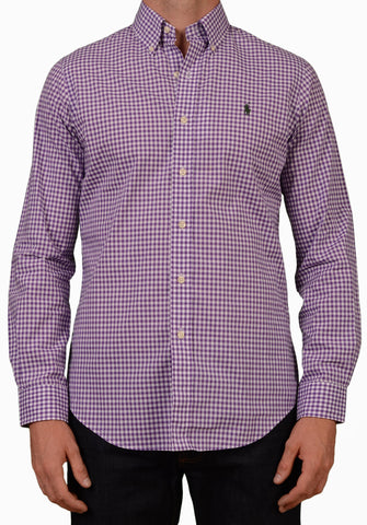 POLO RALPH LAUREN Purple Plaid Cotton Button-Down Casual Shirt 38 NEW US 15/ S - SARTORIALE - 1