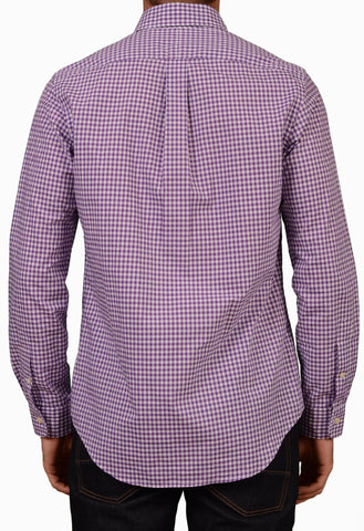 POLO RALPH LAUREN Purple Plaid Cotton Button-Down Casual Shirt 38 NEW US 15/ S - SARTORIALE - 2