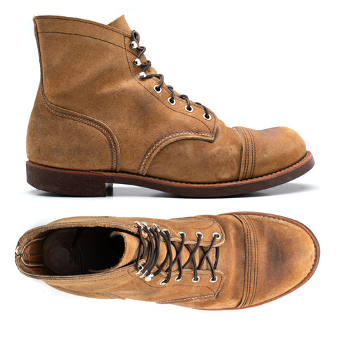 RED WING Iron Ranger 8113 Hawthorne Muleskinner Cork Sole Boots US 11.5