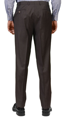 REGENT Germany HAND-TAILORED Gray Super 120's Single Pleated Dress Pants Slacks