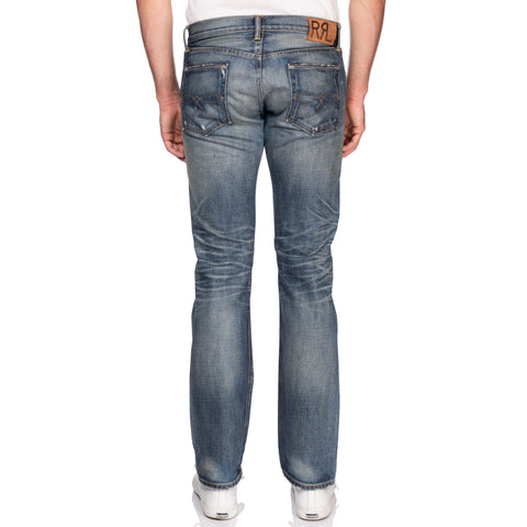 feaa7368db3d1 RRL RALPH LAUREN Double RL Selvedge Low Straight Jeans Made in USA 32x32