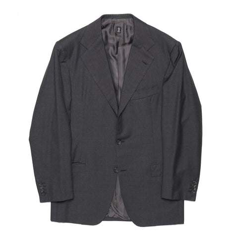 RUBINACCI LH Hand Made Bespoke Charcoal Gray Wool Blazer Sports Coat EU 50 US 40