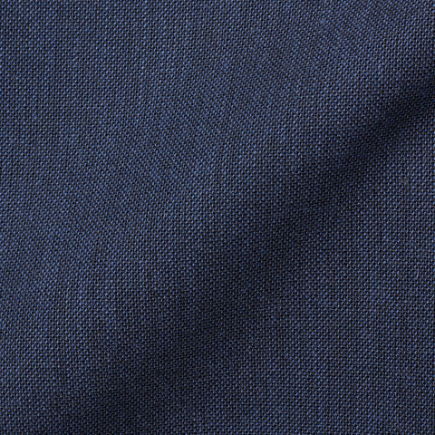RUBINACCI LH Hand Made Navy Blue Wool Mohair Hopsack Blazer Jacket NEW