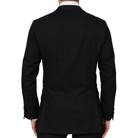 RUBINACCI Handmade Bespoke Black Wool DB Tuxedo Jacket EU 50 NEW US 38 40