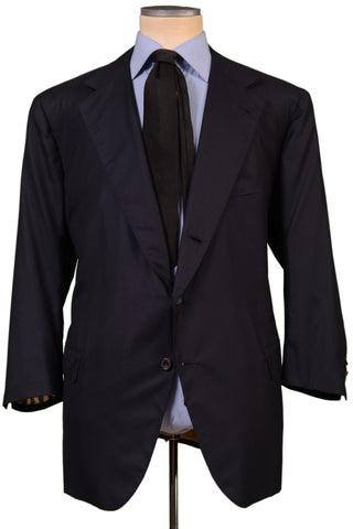 RUBINACCI LH Bespoke Navy Blue Super 180'S Wool Jacket 60 S NEW US 48 50 Short - SARTORIALE - 1