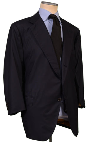 RUBINACCI LH Bespoke Navy Blue Super 180'S Wool Jacket 60 S NEW US 48 50 Short - SARTORIALE - 2