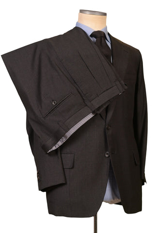 RUBINACCI LH Hand Made Bespoke Gray Wool Super 110's Suit EU 54 NEW US 44 Short